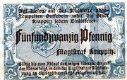25 Pfennig (Krappitz) – avers