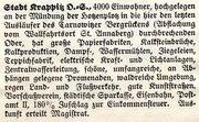 25 Pfennig (Krappitz) – revers