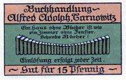 15 Pfennig (Tarnowitz; Alfred Adolph) – avers