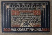 25 Pfennig (Königshütte) – avers