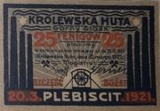 25 Pfennig (Königshütte) – revers