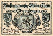 25 Pfennig (Oberglogau) – avers