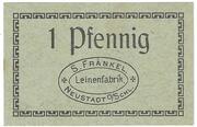 1 Pfennig (Neustadt O.S. - S. Frankel) – avers