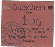 1 Pfennig (Siemianowitz; Georgshütte) – avers