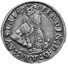 ¼ thaler Ferdinand II du Tyrol – avers