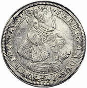 1 thaler Archiduc Ferdinand II du Tyrol – avers