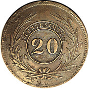20 Centesimos – revers
