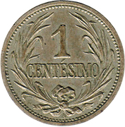1 centesimo – revers