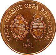 5000 Nuevos Pesos - Hydroélectricité (Essai) – avers