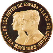 20 000 Nuevos Pesos Visit of Spanish King & Queen – revers