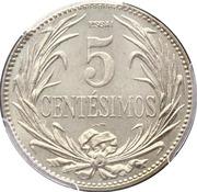 5 centesimos (Essai) – revers