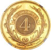 4 centesimos (Essai) – revers