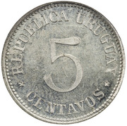 5 centavos (Essai) – avers