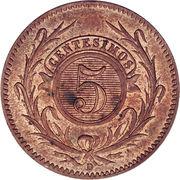5 centesimos – revers