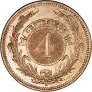 4 centesimos – revers