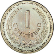 1 centesimo Artigas – revers