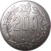 200 nuevo pesos -  revers