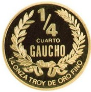 ¼ Gaucho (Gold Bullion Coinage) – revers