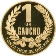 1 Gaucho (Gold Bullion Coinage) – revers