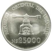 25000 nuevo pesos Banque centrale – avers