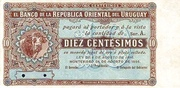 10 Centésimos (Not issued) – avers
