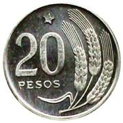 20 pesos (Essai) – revers