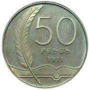 50 Pesos (José Enrique Rodó) – revers