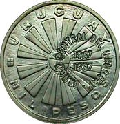 """1000 pesos (Fao - Contremarque """"Banco Central del Uruguay"""" 1967-1987) – avers"""