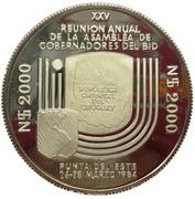 2 000 nuevos pesos (Réunion de Gobernadores del B.I.D, essai) -  revers