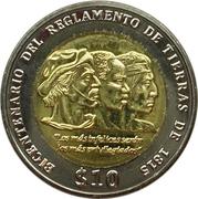 10 pesos uruguayos -  revers