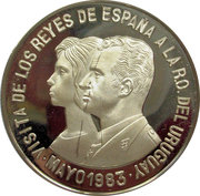 20.000 Nuevos Pesos Visit of Spanish King & Queen – revers