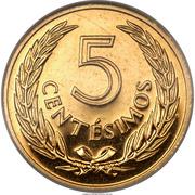 5 centesimos (José Gervasio Artigas, essai) – revers