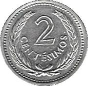 2 centesimos (Artigas) – revers