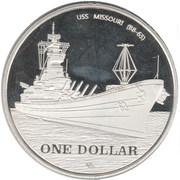 1 Dollar (Okinawa) – revers