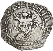 4 reales Philippe II – avers