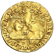 1 ducado Ferdinand II – avers