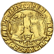 1 ducado Ferdinand et Isabelle – avers