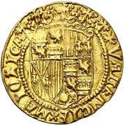 1 ducado Ferdinand et Isabelle – revers