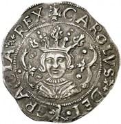 4 reales Charles I – avers