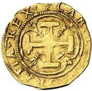 1 corona Charles I – avers