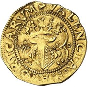 1 corona Charles I -  revers