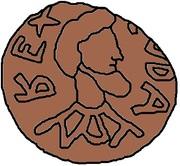 1 nummus Godas (avec inscription) – avers