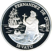 50 vatu (Fernandez de Quiros) – revers