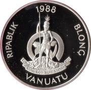 50 vatu (Jeux olympiques Séoul 1988) – avers