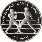 50 vatu (Jeux olympiques Séoul 1988) – revers