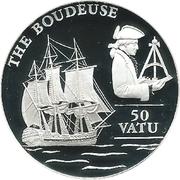 50 Vatu (Frégate La Boudeuse) – revers