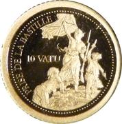 10 vatu Prise de la Bastille – revers