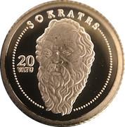 20 Vatu (Socrate) – revers