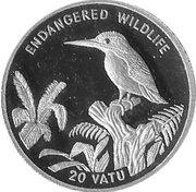 20 vatu (Martin-pêcheur) – revers