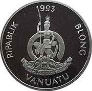 50 vatu (40ème anniversaire du couronnement d'Elizabeth II) – avers